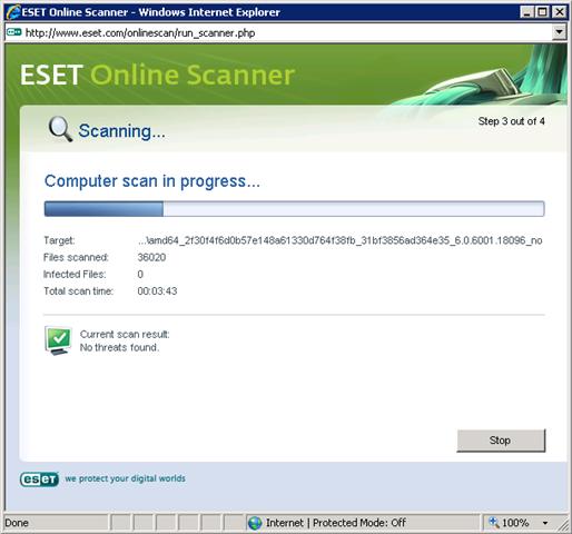 Yusuf Ozturk » Free Online Antivirus Scanner – Eset Nod32