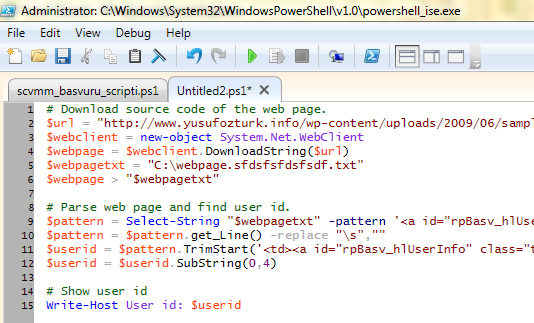 Yusuf Ozturk » Working on Powershell using with Powershell ISE